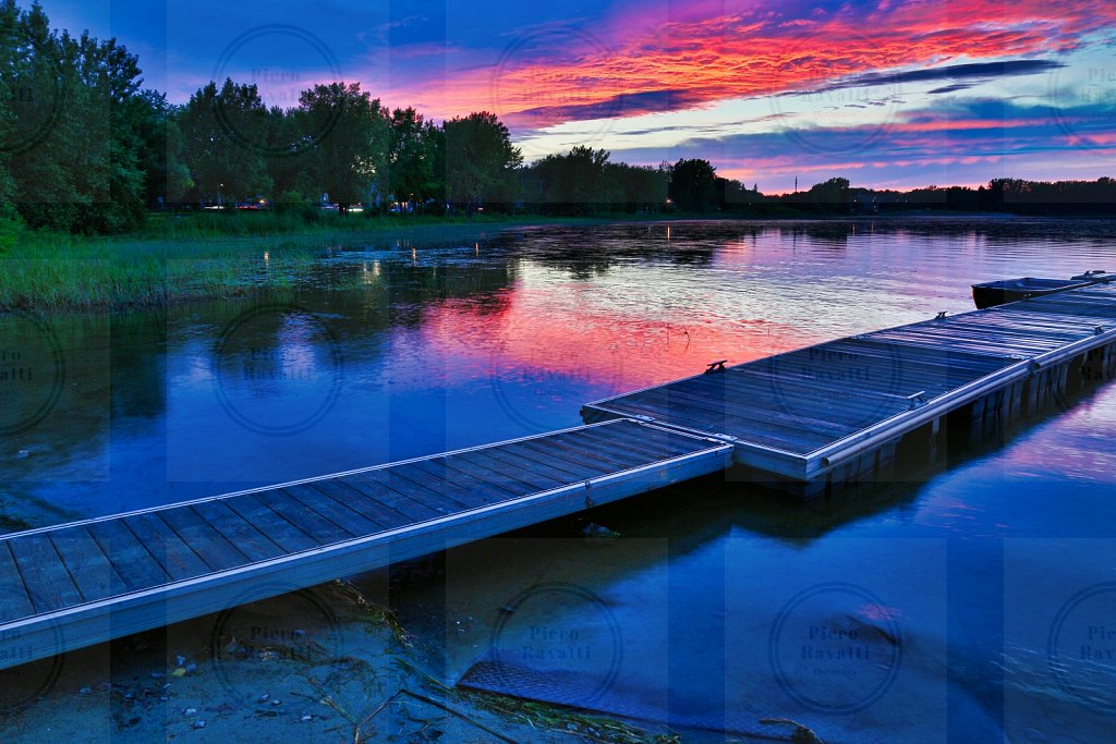 Dock in Vaudreuil during sunset